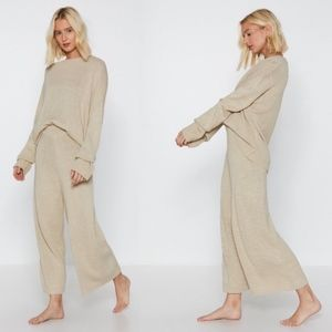 Nasty Gal You've Met Your Match Knitted Lounge Set